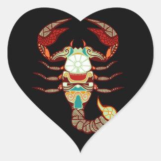 Zodíaco da Escorpião - escorpião Adesivo Coração