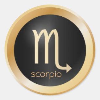 zodíaco da etiqueta do scorpio