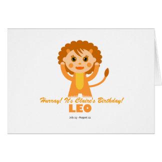 Zodíaco de Leo para miúdos Cartao
