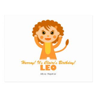Zodíaco de Leo para miúdos Cartão Postal