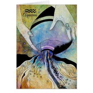Zodíaco do Aquário Cartão Comemorativo