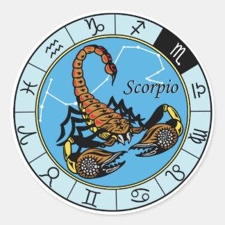 zodíaco do escorpião adesivos em formato redondos
