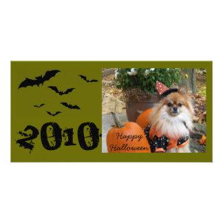 ZOE o Dia das Bruxas feliz, 2010 Cartoes Com Foto Personalizados
