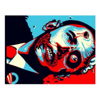 zombi de obama cartão postal