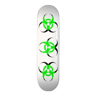 Zombi do símbolo do Biohazard verde e preto no bra Shape De Skate 18,7cm