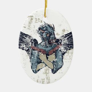 zombi do vôo com asas ornamento de cerâmica