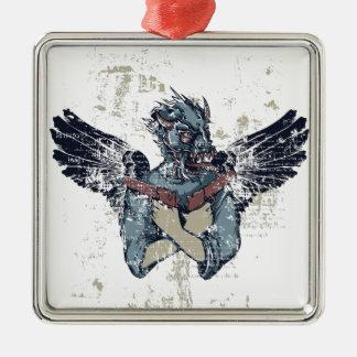 zombi do vôo com asas ornamento de metal