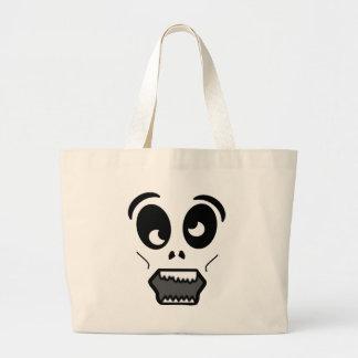 Zombi dos desenhos animados bolsa para compras