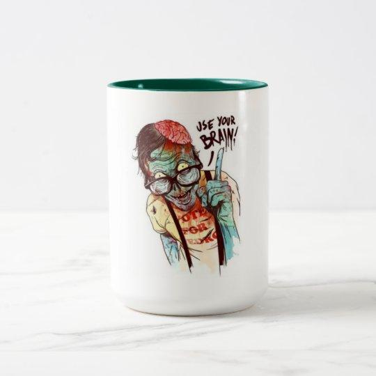 ZOMBIE CANECA DE CAFÉ EM DOIS TONS
