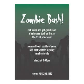 Zombis Convite 12.7 X 17.78cm