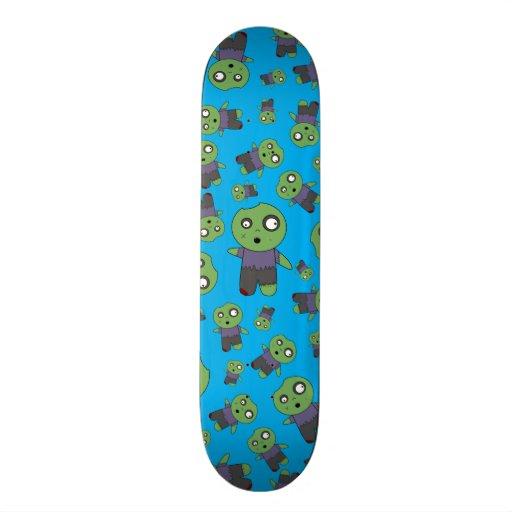 Zombis dos azul-céu skate personalizado