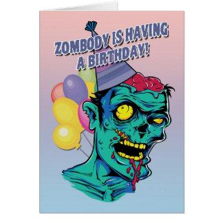 Zombody está tendo um cartão do zombi do