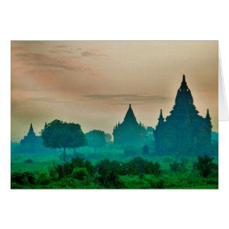 Zona Archaeological de Bagan Cartão De Nota