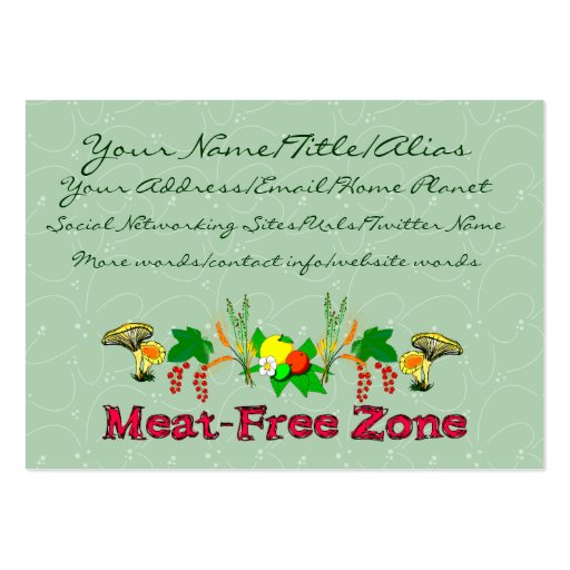 Zona Carne-Livre Cartoes De Visita