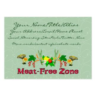 Zona Carne-Livre Cartão De Visita Grande