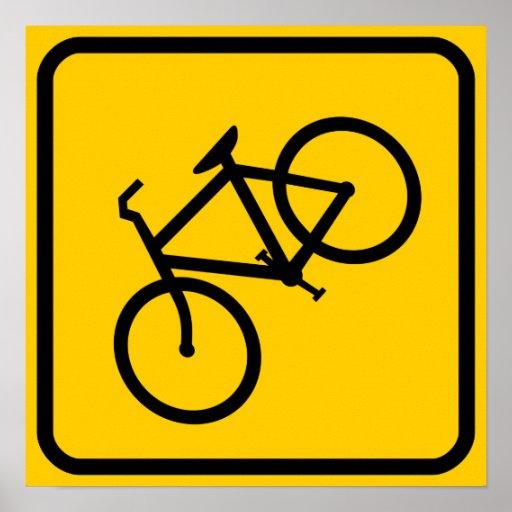 Zona da bicicleta XING Posters
