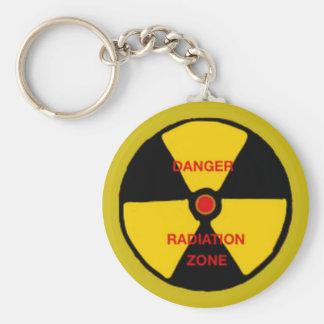 Zona da radiação chaveiro