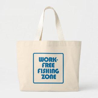 Zona de pesca livre do trabalho bolsa tote grande