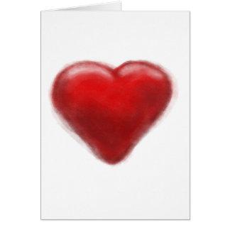 zona do coração cartão comemorativo