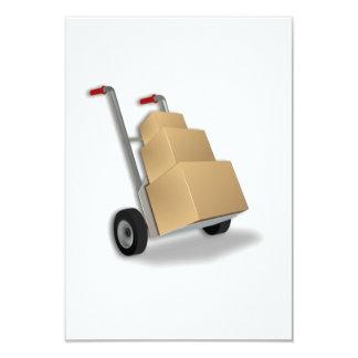Zorra com caixas convite 8.89 x 12.7cm