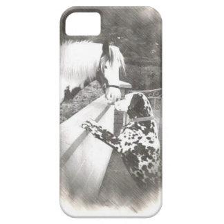 Zorra do cão de Dalmation com cavalo Capa Para iPhone 5