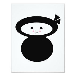 zorra do kawaii do ninja convites personalizado