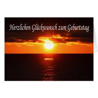 Zum Geburtstag de Herzlichen Glueckwunsch - por do Cartão