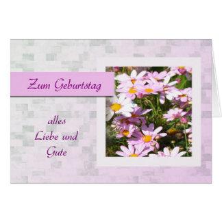 Zum Geburtstag - feliz aniversario no alemão,