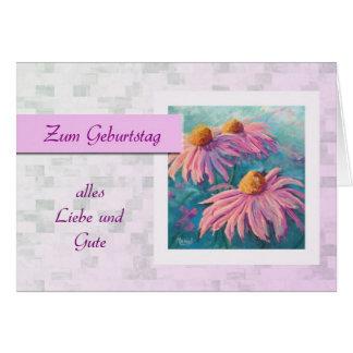 Zum Geburtstag - feliz aniversario no alemão, Cartão Comemorativo