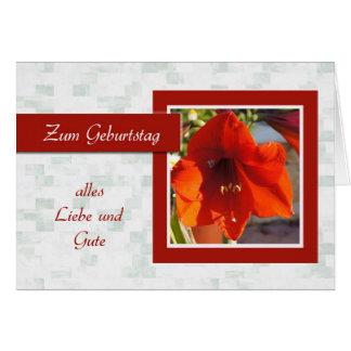 Zum Geburtstag - feliz aniversario no alemão marg Cartoes