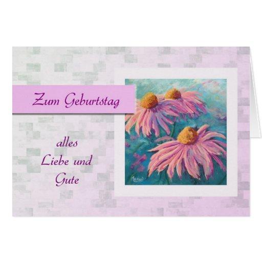 Zum Geburtstag - feliz aniversario no alemão, marg Cartões