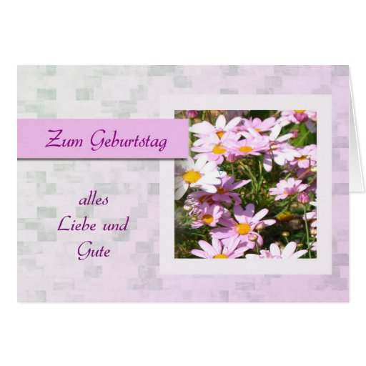 Zum Geburtstag - feliz aniversario no alemão, marg Cartoes