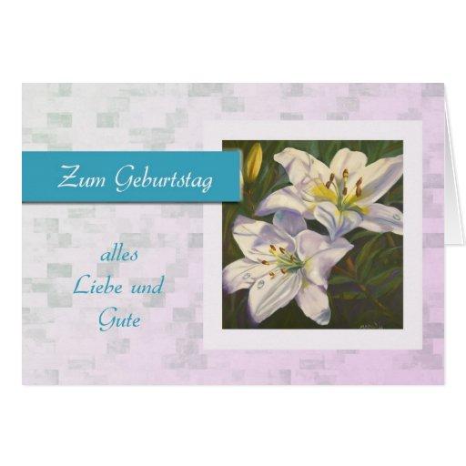 Zum Geburtstag - feliz aniversario no alemão, marg Cartão