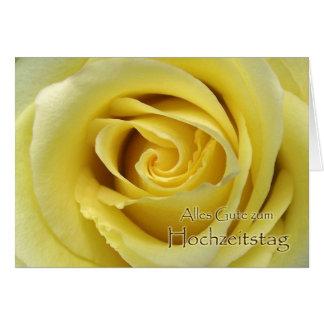 Zum Hochzeitstag de Alles Gute, aniversário alemão Cartão Comemorativo