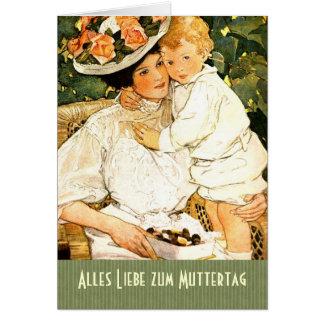 Zum Muttertag de Alles Liebe. Cartão alemão