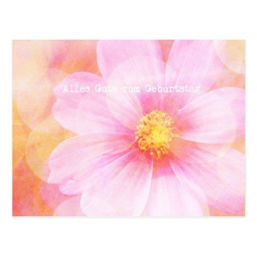 Zum Pastel Geburtstag de Alles Gutes da margarida Cartão Postal