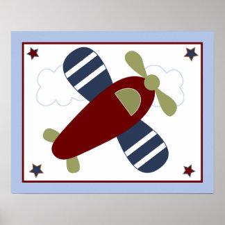 Zumbe ao longo/aviões bonitos/poster dos planos