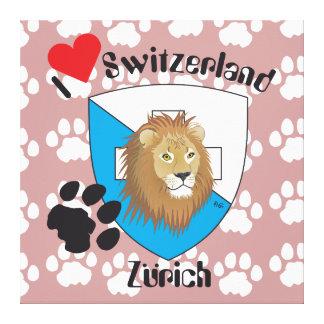 Zurique Suíça Switzerland linho Impressão Em Tela