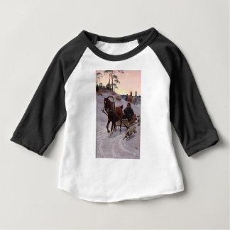 Zygmunt_Ajdukiewicz_Polnische_Schlittenfahrt Camiseta Para Bebê